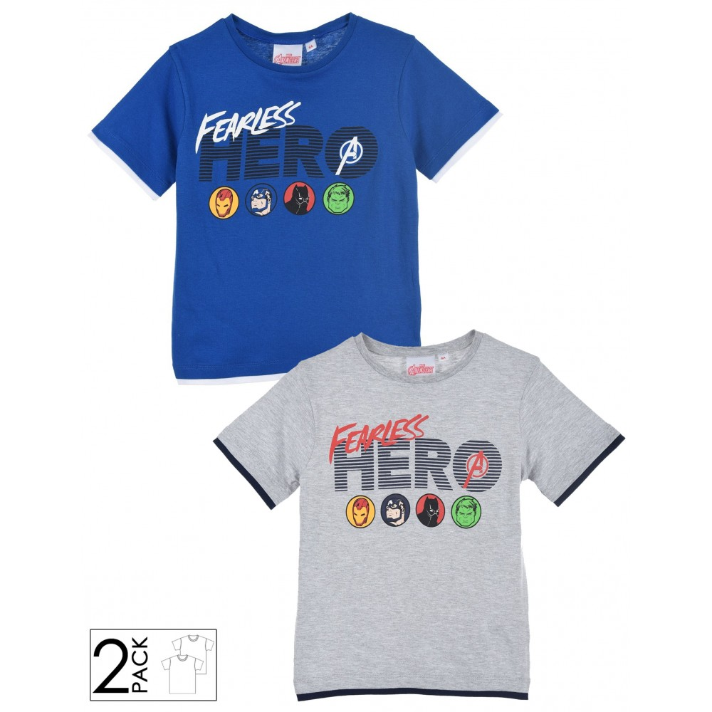 Pack2 T-Shirt in cotone Avengers
