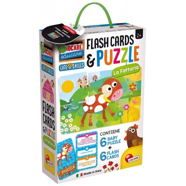 Baby Puzzle Flash Cards La Fattoria