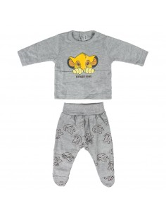 Completo due pezzi neonato interlock The Lion King