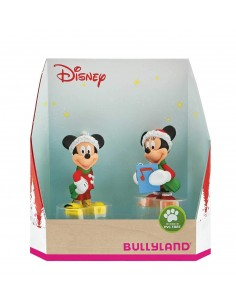 Personaggio 10cm box set 2pz Topolino Natale
