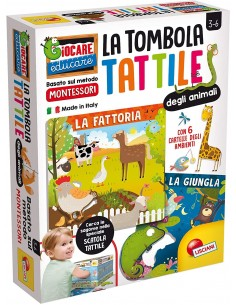 Montessori Plus Tombola tattile degli animali